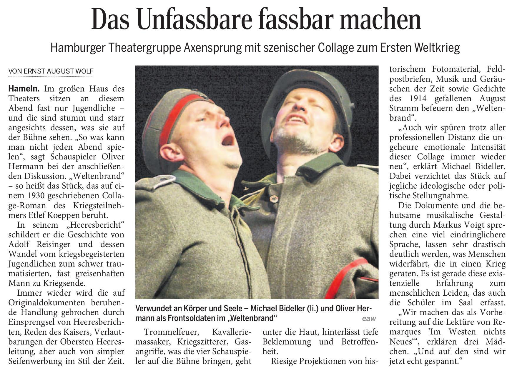 Deister Weser Zeitung (12.3.2015)