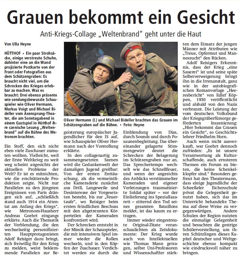 Rotenburger Kreiszeitung, 24.11.2015